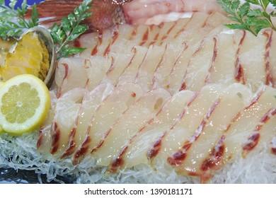 Sliced Raw Sea Bream (domi hoe)
