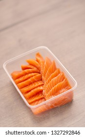 sliced salmon in the box