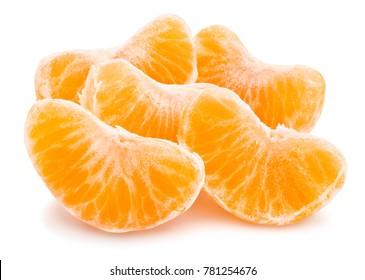 sliced tangerine path isolated