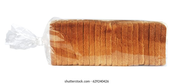 Sliced toast bread in plastic bag