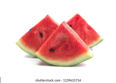 Sliced of watermelon isolated on white background, Fresh watermelon