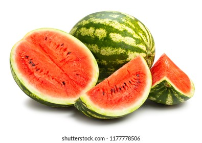 sliced watermelon path isolated