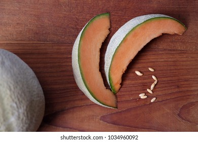 Slices of fresh melon ready to be eaten