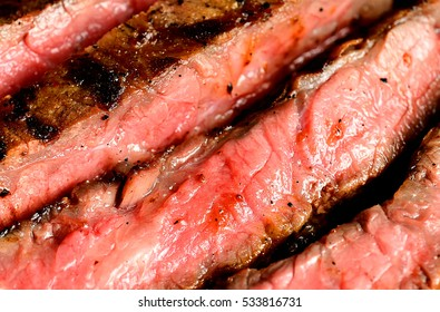 slices of grilled steak