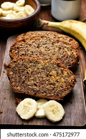 Slices of homemade banana bread