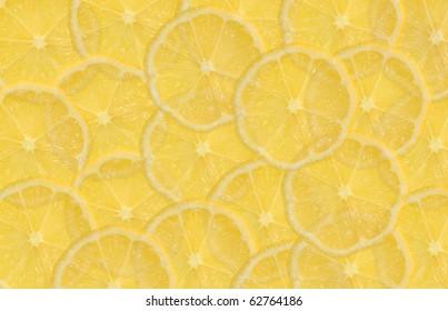 Slices of lemon background