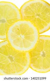 Slices of lemon fruits