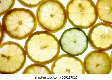 Slices of lemons plus lime.