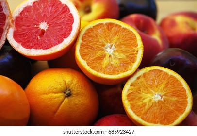 slices of orange and citric fruits