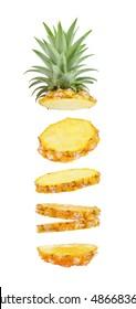 Ananas, einzeln auf weißem Hintergrund