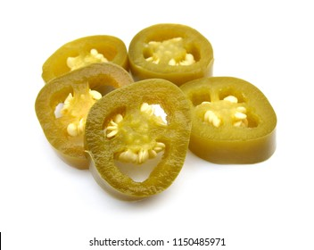 Slices of preserved Jalapeno pepper