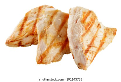 Slices of roasted turkish breast.