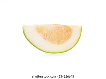 slices of sweet Pomelo isolated on white background