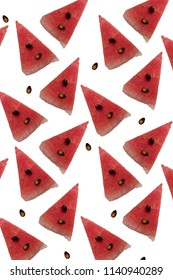 slices of watermelon on pastel background, minimal pop concept healthy food