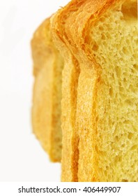 slices of wheat bread loaf macro, closeup, shallow depth of field