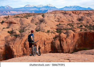 Slickrock mountain bike trail in Moab, Utah
