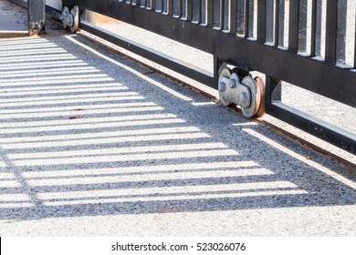 Slide door with wheel bearing.
