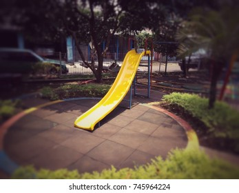 Slide in the garden