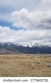 Slide Mountain in Washoe Valley, Nevada with dramatic clouds overhead.