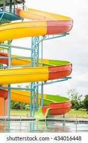 slider in water park