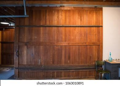 Sliding Barn Door at Studio