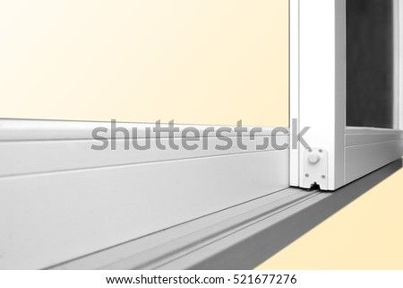 Sliding Glass Door Detail Rail Embed Stock Photo Edit Now
