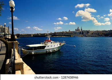 Sliema, Malta - 10th July 2018:Guadalupe in the harbour of Sliema