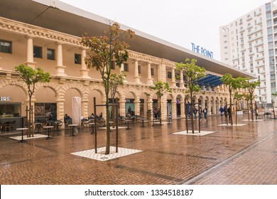 SLIEMA, MALTA - 31ST OCTOBER 2018: The Point shopping centre in Sliema Malta during the day. People can be seen outside.