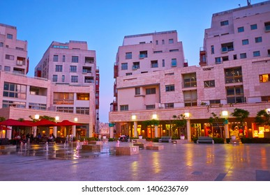 SLIEMA, MALTA - JUNE 19, 2018: Visit modern Tigne Point shopping mall, including nice cafes and restaurants, located in the scenic square, on June 19 in Sliema