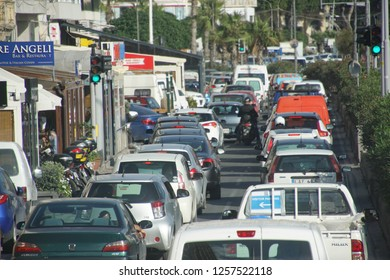 SLIEMA, MALTA - NOV 30, 2018 - Heavy traffic in Sliema, Malta