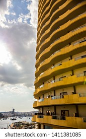 SLIEMA, MALTA - September 2018: Modern building, hotel in Sliema, Malta. Hotel with sea view in Mlata
