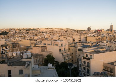 The Sliema skyline during the day showing buildings and architecture