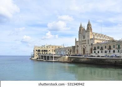 Sliema town embankment, Malta