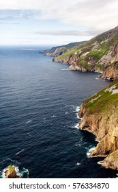 Slieve League Cliffs, County Donegal, Ireland - View of Europe's largest sea cliffs.