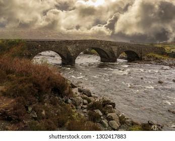 Sligachan Bridge, Isle of Skye, Scotland, May 2014