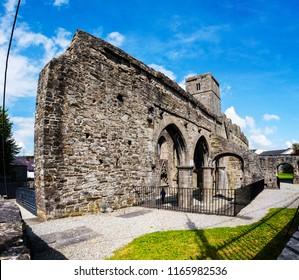 Sligo, Ireland. Sligo Abbey - famous ruins in Sligo during the sunny day