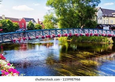 SLIGO, IRELAND - JULY 12, 2018: City centre of Sligo, County Galway, Ireland