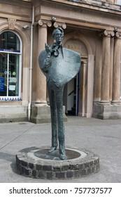 SLIGO, IRELAND - July 14, 2017:  the statue of writer and poet William Butler Yeats of Sligo city in Ireland