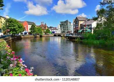 SLIGO, REPUBLIC OF IRELAND, June 21, 2018:  The river Garavogue winds its way through Sligo, a vibrant town with ancient history in the northwest of the country.