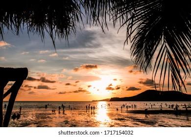 slihouette nature amazing thailand sunset