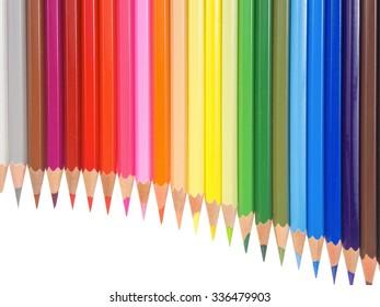 slim crayons pan flute arrangement copy space