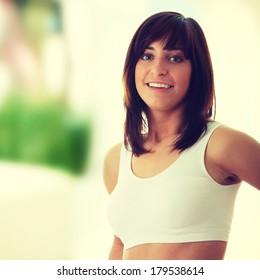 Slim Fitness Girl portrait