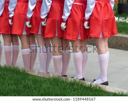 Girls white stockings school the incorrect