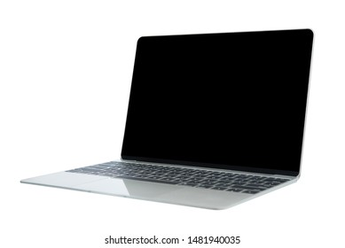 slim laptop computer isolated on white background