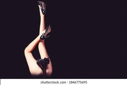 Slim legs. Gorgeous ass, big ass, sexy bum. Sexy legs, erotic leg. Legs in high heels, ass, bum, butt. Sexy buttocks. Long beautiful female leg in black shoes.