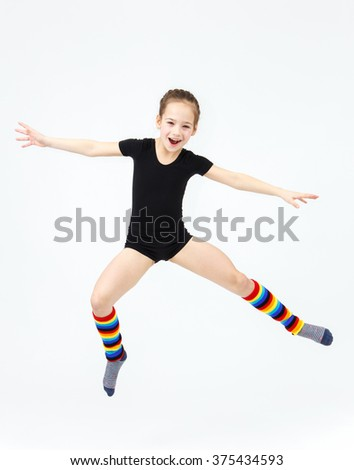 Properties leaves Girl gymnastics teen