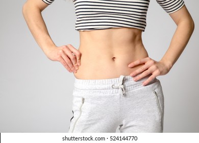 Slim waist woman's body. Healthy lifestyles concept.
