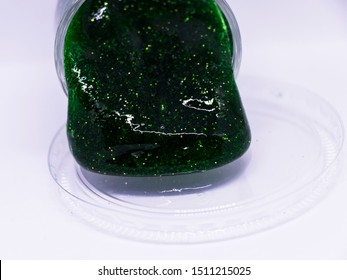 Slime (Alien drool) or Shell mussel (Playing clear green slime)