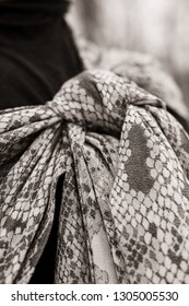 Sling, in black and white, beautiful pattern