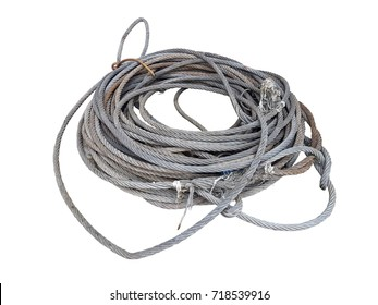 Sling Cable Metal Rope Isolated White Background